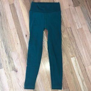 athleta emerald leggings
